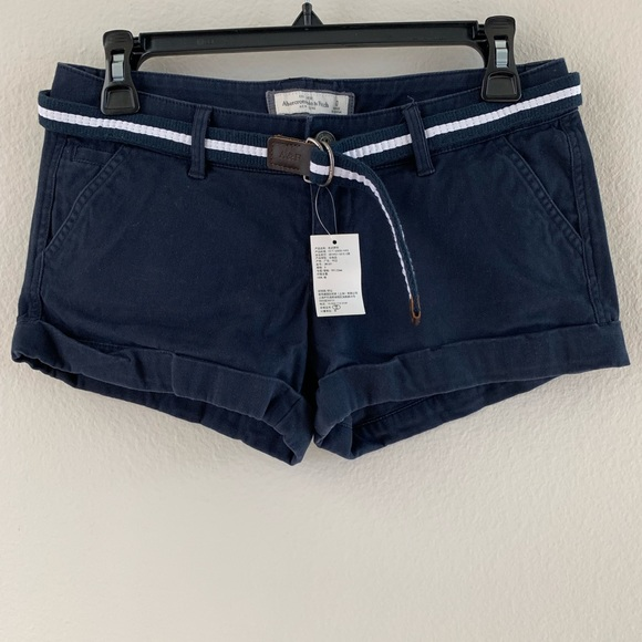 Abercrombie & Fitch Pants - Abercrombie & Fitch Blue Shorts